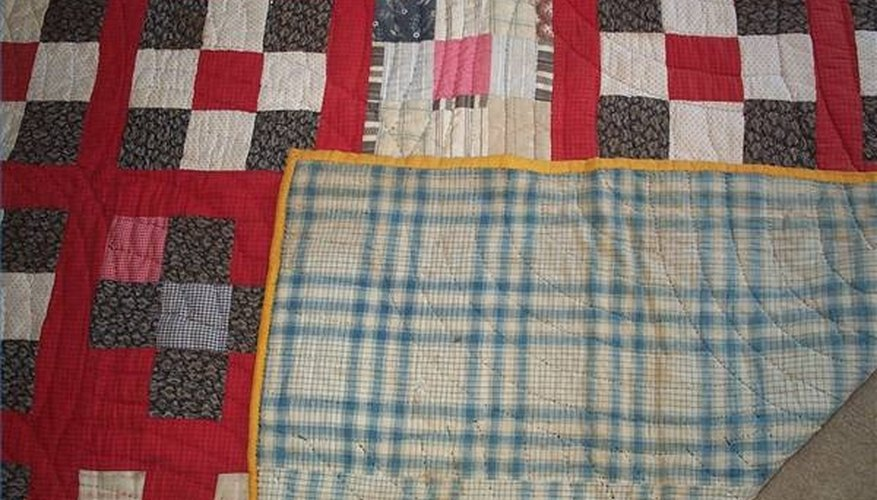 Without a label, an old quilt has no known history.