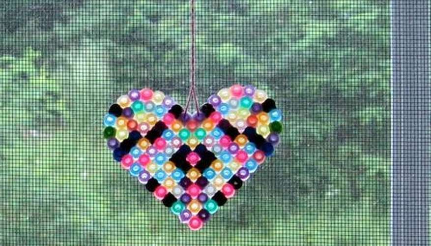 Perler bead window decoration