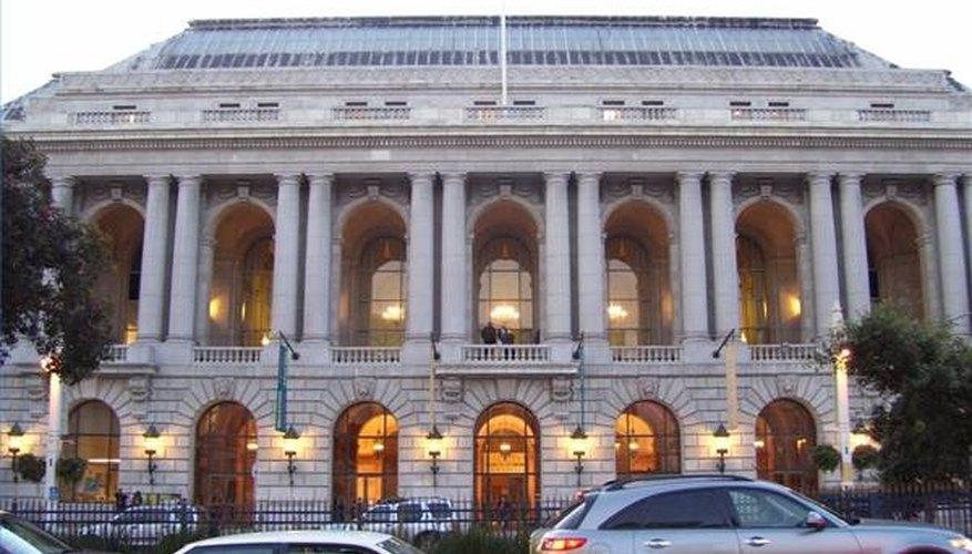 The famed San Francisco Opera House