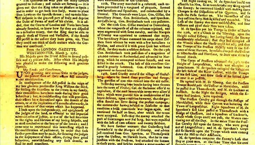 The first continually published newspaper