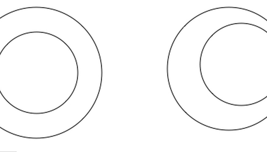 Concentric Circles Have the Same Center; Left Circles Are Concentric