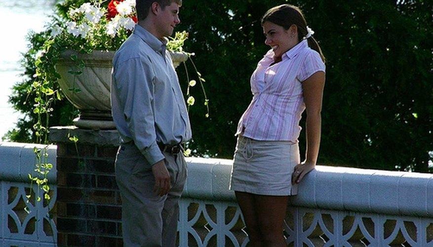 A flirtatious couple.