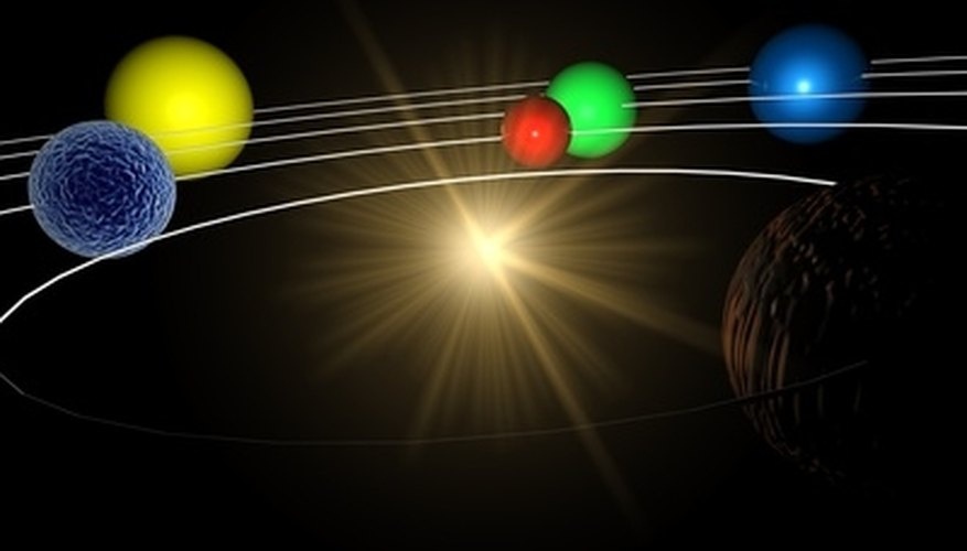 Foam balls become planets in solar system models.