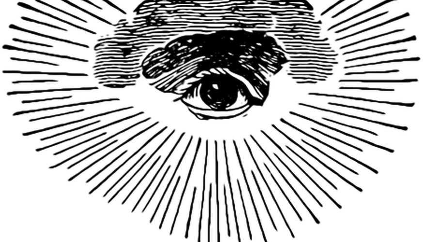 Common Eye of Providence symbol.
