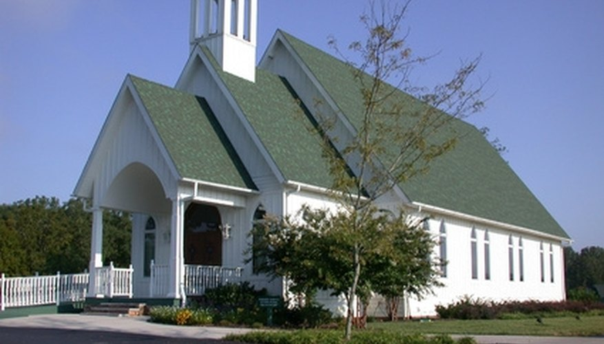 A white wedding chapel is a traditional location.