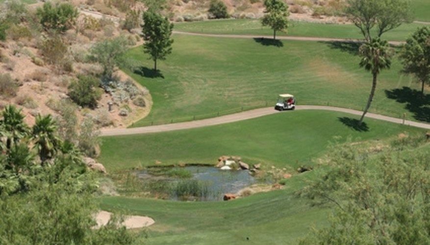 A country club offers many wedding locations, including the golf course's greens.