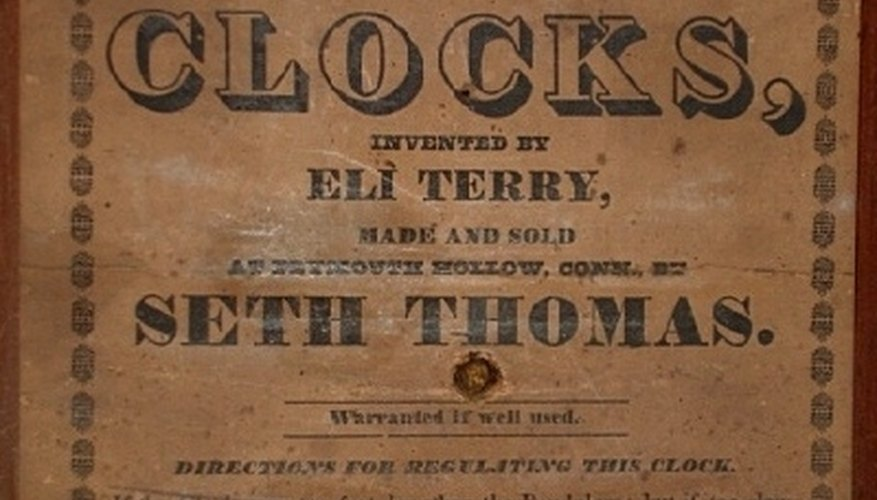 History of the Seth Thomas Clock