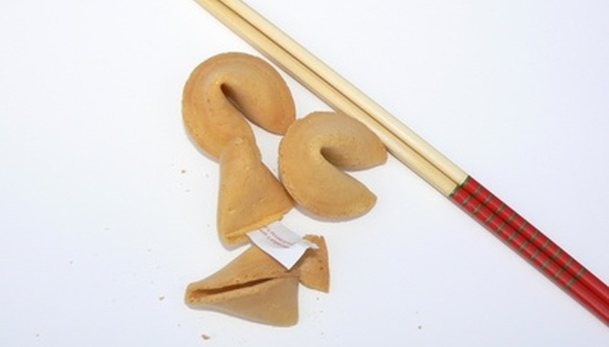 Hide your own message inside homemade fortune cookies.
