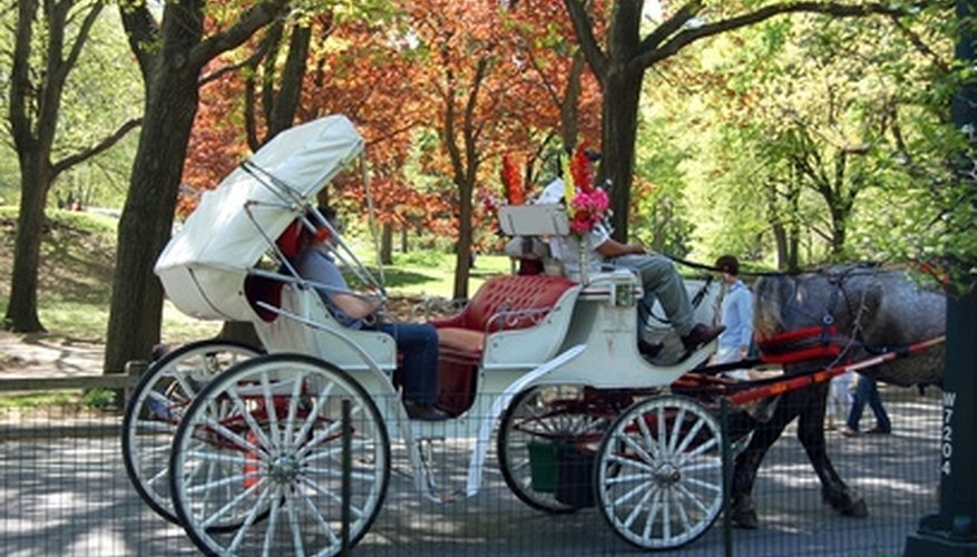 Horse-drawn carriage rides are a classic romantic idea.