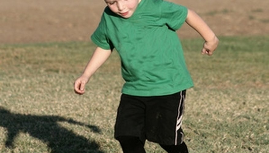 Use a variety of soccer drills to help a young player improve.