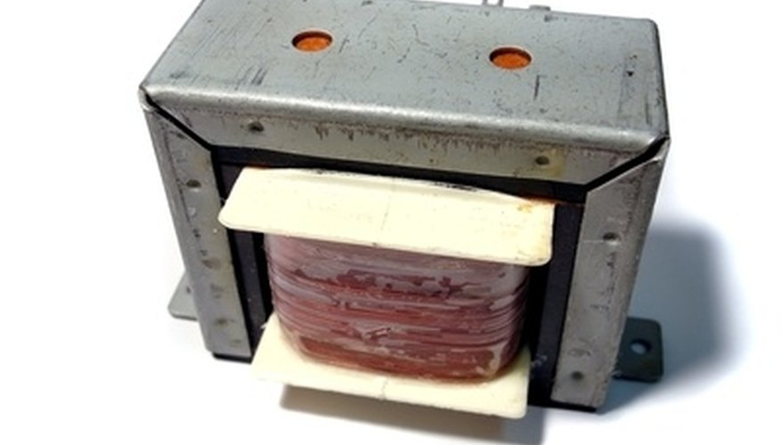 A step-up transformer increases the voltage while increasing current.