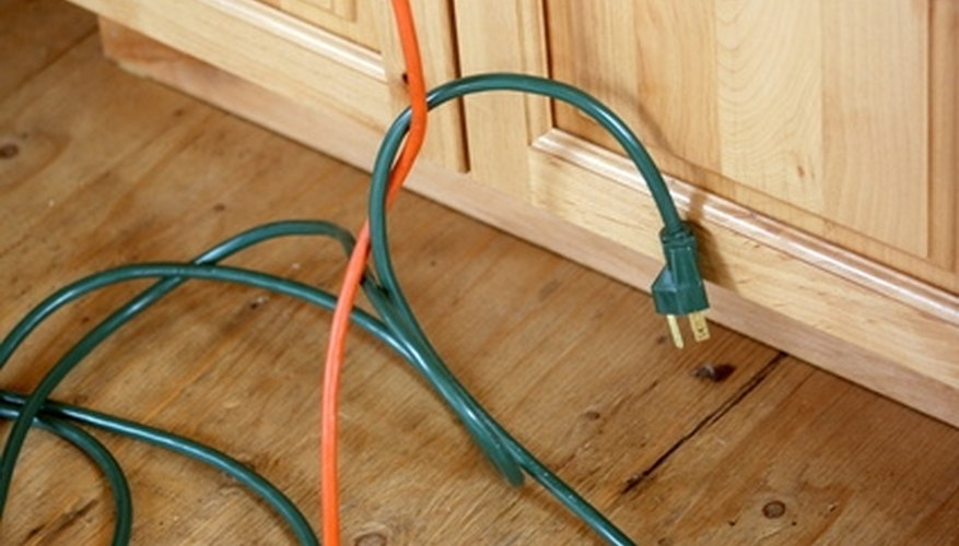 Wattage is a measure of electrical power, such as in an electric extension cord.