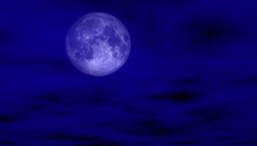 Moonlight in a dark blue sky