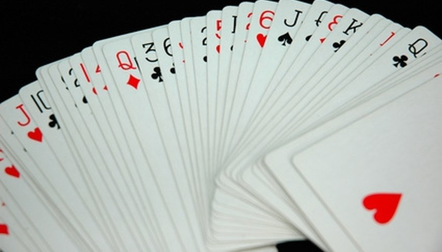 Crazy Eights can be played with a standard deck of cards.