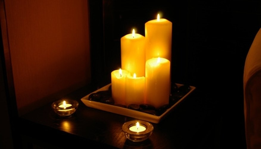 Candles are an easy way to enhance you romantic dinner setting.