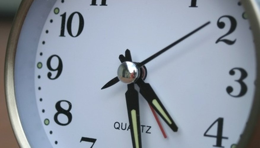 The clock is ticking on a speed date.