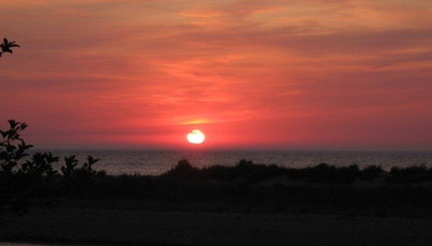 Enjoy a romantic sunset over Lake Michigan.