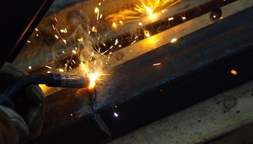Spot welding is confined to a small area.