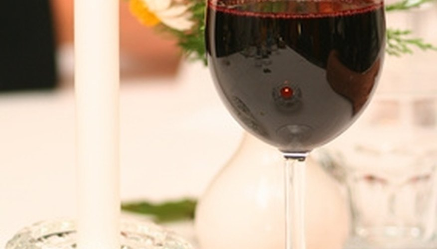 Red wine is a necessary part of any romantic dinner for two.