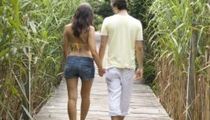 A walk together is a simple way to spend quality time.