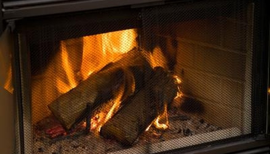 Use seasoned wood for your fireplace insert.