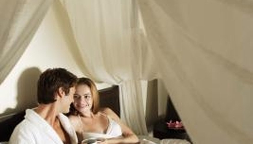 A romantic environment stirs intimate emotions.