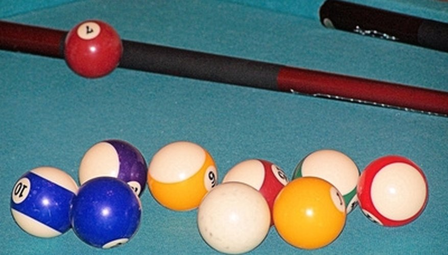 Replace the bumpers along the rail of your pool table.