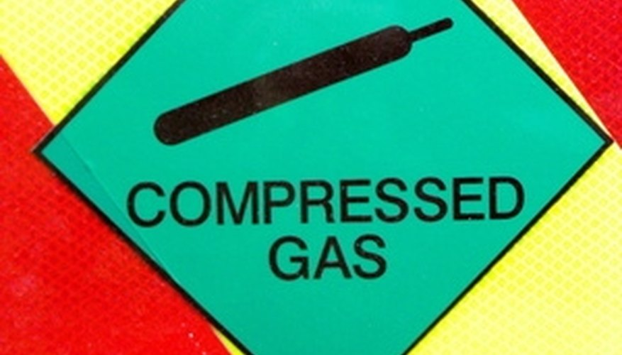 Working with compressed gas such as air should be done with caution.