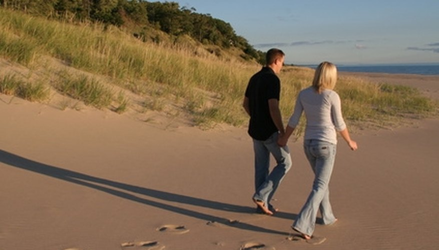 If you prefer a laid-back activity, take your date for a romantic stroll on the beach.