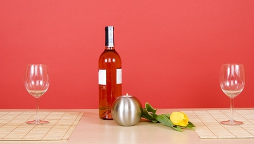 Serve your sweetheart's favorite food at home with a glass of wine.