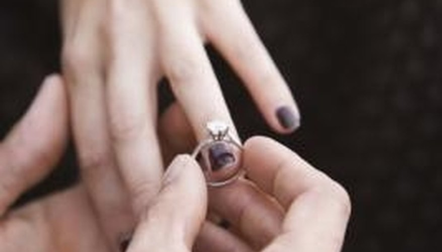 The ring is the centerpiece of the wedding proposal.