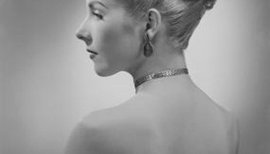 Woman with elegant chignon