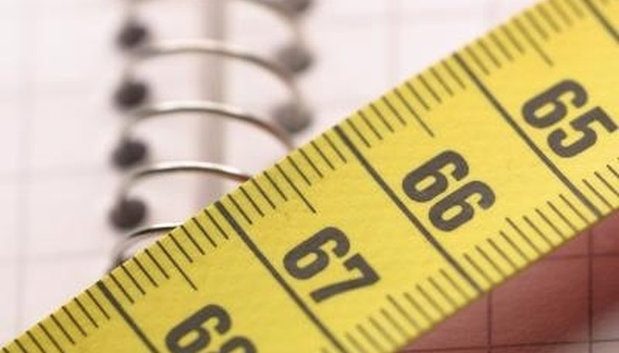 This tape is used to obtain measurements in centimeters, which can be easily converted to inches.