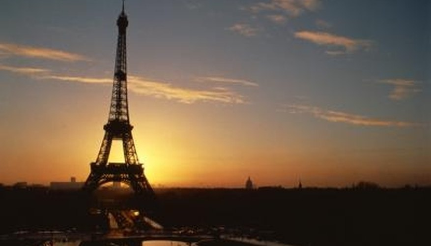 Paris honeymoons are best in the spring and early autumn.
