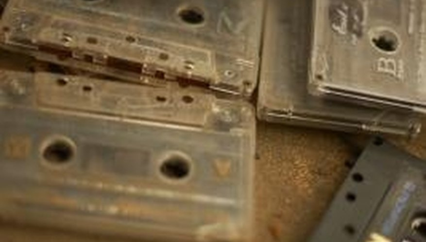 Old cassettes used magnetic tape to store audio for playback.