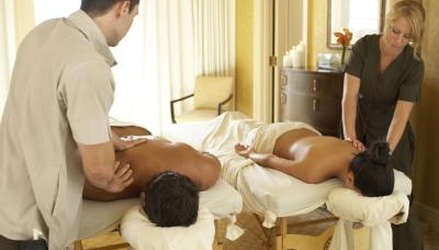 A couple's massage is romantic and relaxing.
