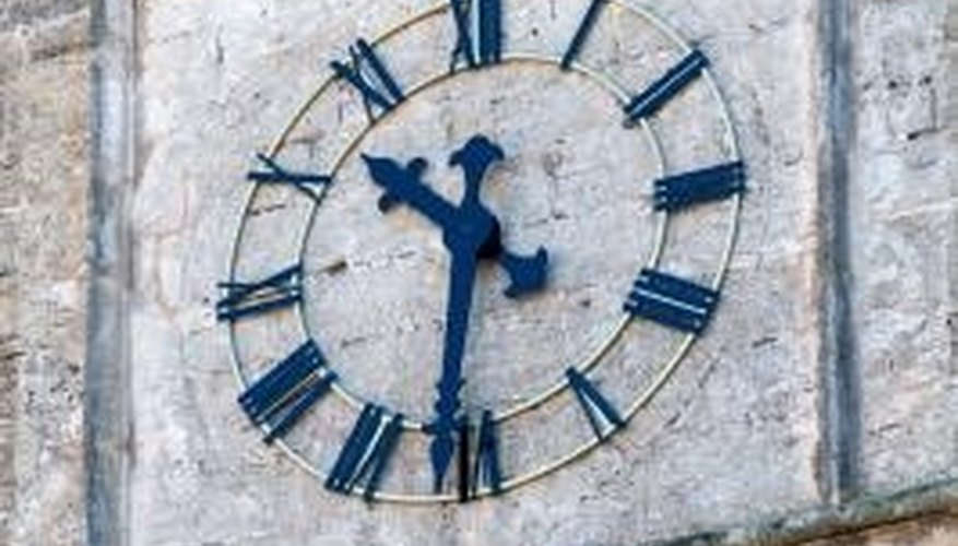 You can see Roman numerals on some clocks.