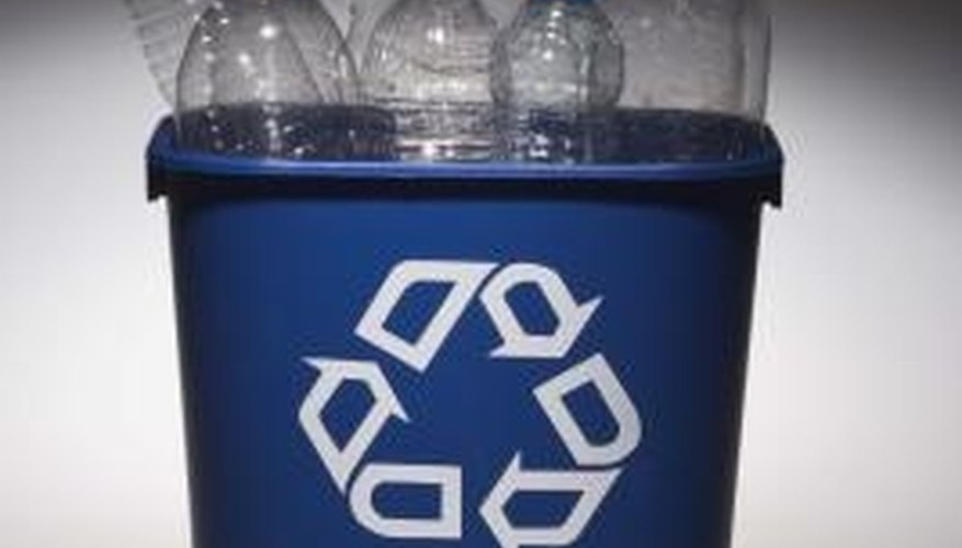Not all types of plastic are easily recycled