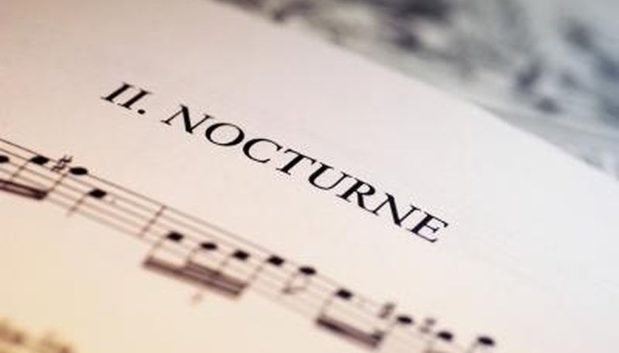 The nocturne was a new style to emerge during the Romantic era.