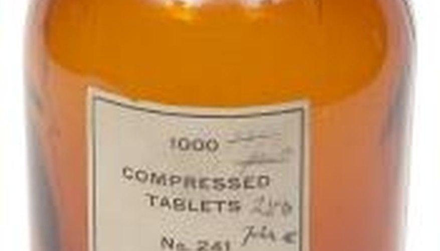 A bottle of gastric alkaline.