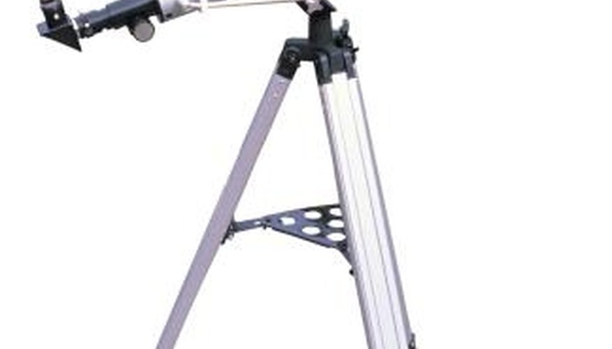 The focal length of a telescope is used to calculate the magnification.