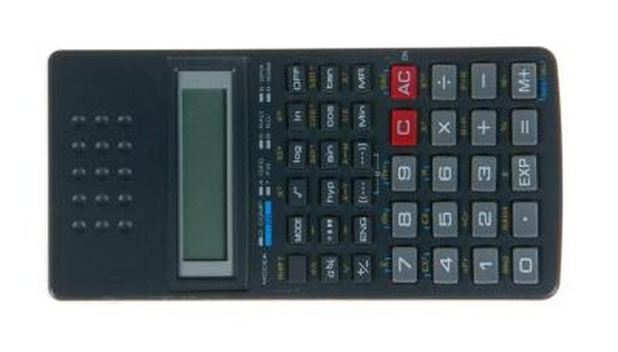 Means and squared numbers can be quantified quickly with a calculator.