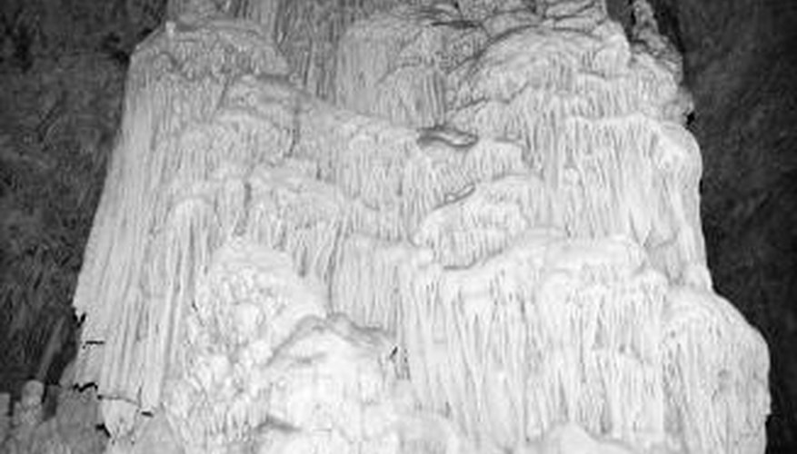 Limestone formed in underground caverns is mined for use as an aggregate.