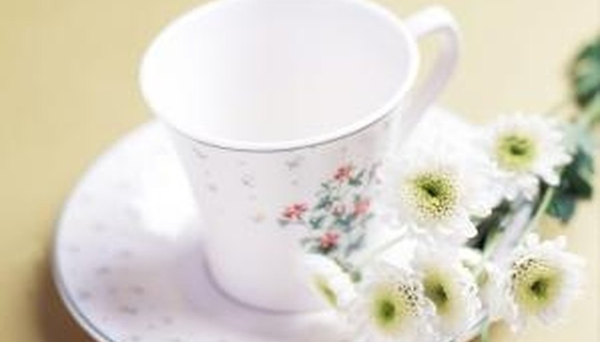 Use a wide, shallow teacup so you can see the tea leaves easily.