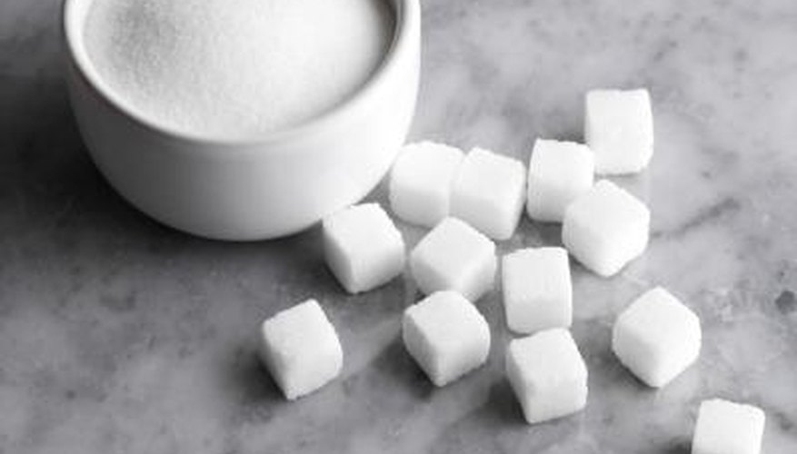 Table sugar, or sucrose, is made up of two smaller sugar molecules, glucose and fructose.