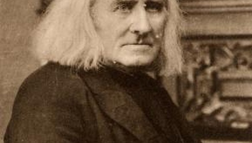 Hungarian composer and pianist Franz Liszt.