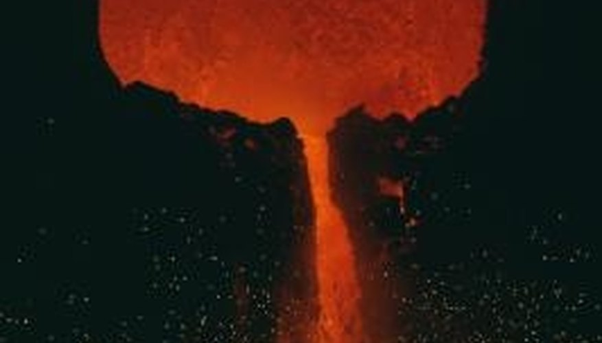 Volcanoes spew ash, lava and several gases when they erupt.