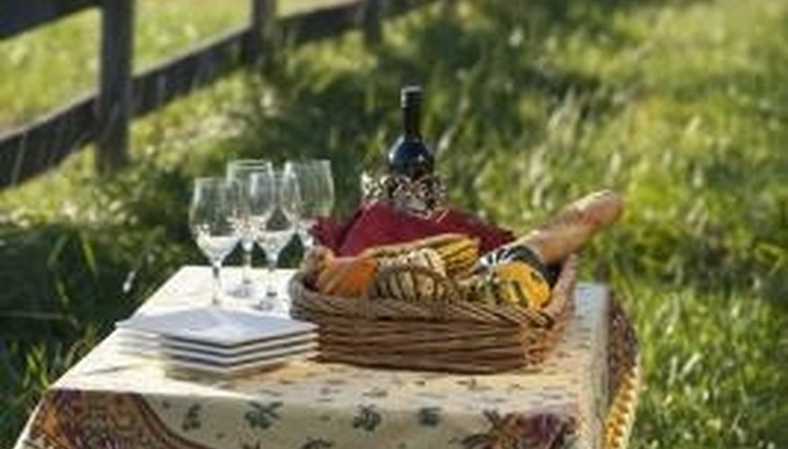 Choose a picturesque setting for your romantic picnic.
