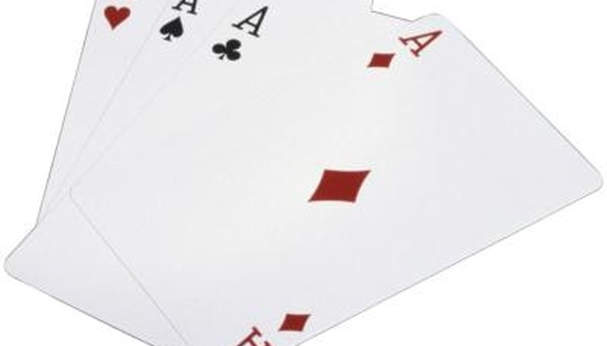 Euchre is a card game that involves four players and the winning team takes the most tricks.