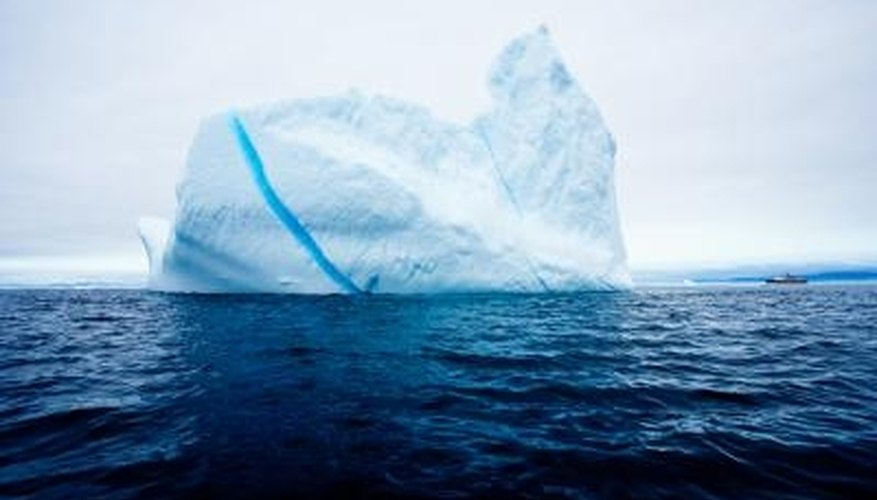 Sea ice floats because the salt water beneath it is denser.